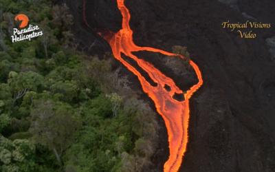 June 30, 2016 Lava Over Pali